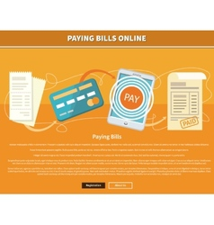 Pay Bills Online vector image