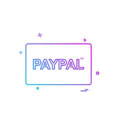Paypal card icon design vector