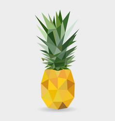 Polygonal pineapple fruit isolated vector