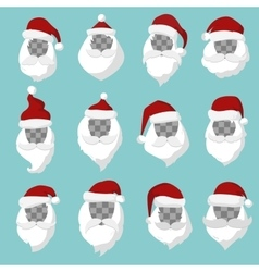 Portrait Santa Claus face cut silhouette vector