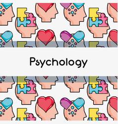 Psychology treatment analysis background design vector