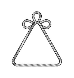 rope decor triangle vector image