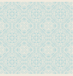 Seamless abstract line art tiled pattern vector
