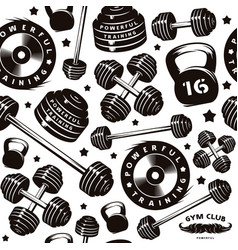 Seamless pattern for gym club vector