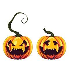 Spooky halloween pumpkins2 vector
