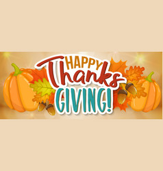 Thanksgiving day greeting banner vector