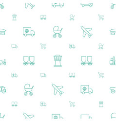 transport icons pattern seamless white background vector image