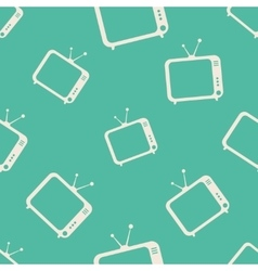 TV icons pattern vector image