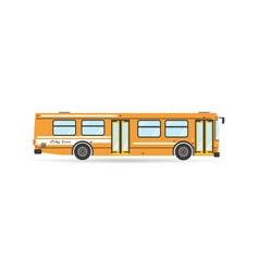 vehicle icon transportation city transit bus vector image