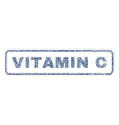 Vitamin c textile stamp vector