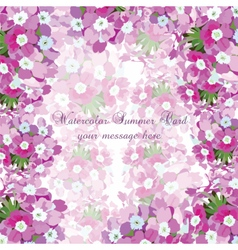 Watercolor flowers card vector image