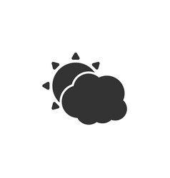 Weather icon with cloud and sun vector