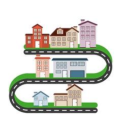 welcome neighborhood vector image