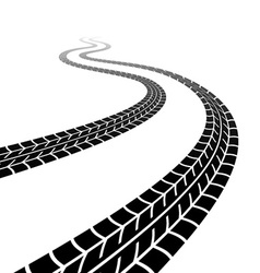 Winding trace tyres vector