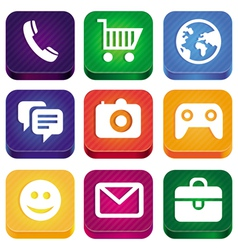 bright app icons vector image vector image