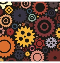 Bright colourfull gear background Flat design vector image vector image