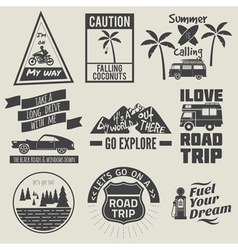 road trip badges vector image