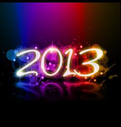 2013 vector image vector image
