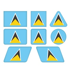 buttons with flag of Saint Lucia vector image vector image
