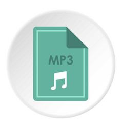 file mp3 icon circle vector image vector image