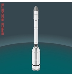 Isometric russian space rocket proton vector image