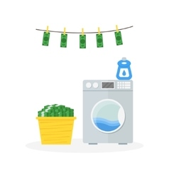 Money Laundering in Washer Concept vector image vector image