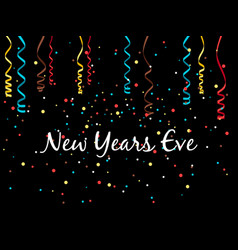 new year eve background vector image