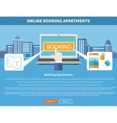 Online Booking Apartments vector image