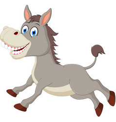 happy donkey cartoon vector image vector image