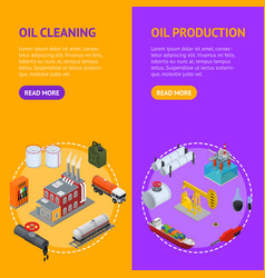 oil industry and energy resource banner vecrtical vector image vector image