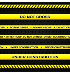 Under construction lines vector