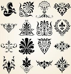 Decorative ornaments design elements vector image vector image