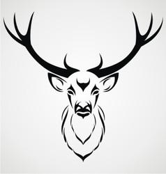 Deer Head Tribal vector image vector image