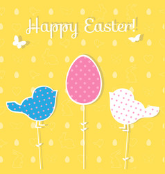 easter paper decoration in the form of egg and vector image vector image