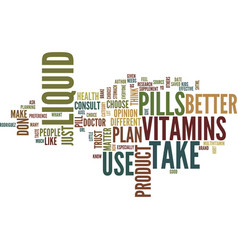 liquid or pills text background word cloud concept vector image