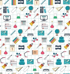 Seamless school pattern Back to school Flat design vector image