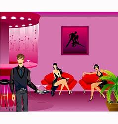 Women in a bar vector image
