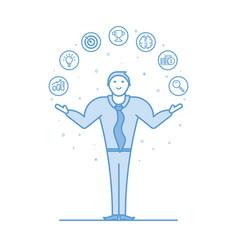 acrobat businessman in flat vector image