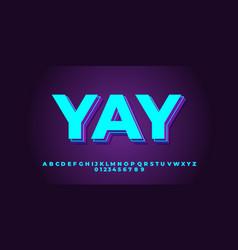 Aqua 3d layer font style design templates vector