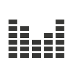 audio levels icon isolated icon design vector image