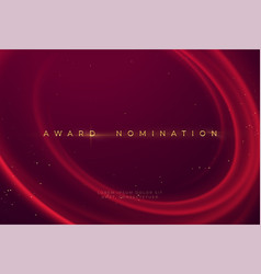 Award nomination ceremony with luxurious red wavy vector