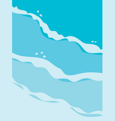 background image of waves at beach in sea green vector image