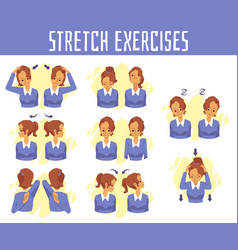 Banner with exercises for health vector