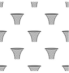 basketball hoop icon in black style isolated on vector image