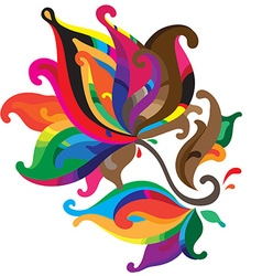 Beautiful colorful graphic flower vector image