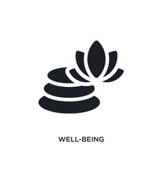 Black well-being isolated icon simple element vector
