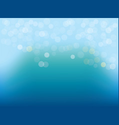 Blue water with circular bokeh lights background vector