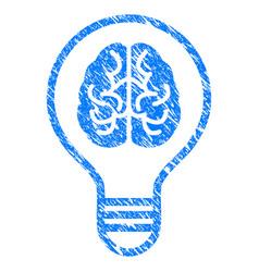 brain idea bulb grunge icon vector image