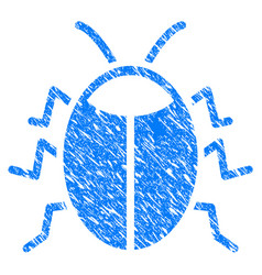 Bug grunge icon vector