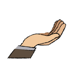 Cartoon business man hand gesture help vector